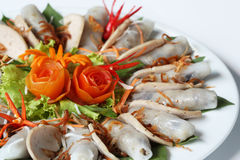 面条猪肉土豆片式越南 免版税库存图片