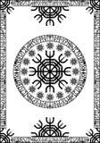 面板古代北欧文字的北欧海盗 库存图片