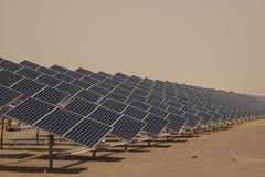 面板太阳工厂的次幂 库存图片