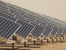 面板太阳工厂的次幂 库存照片