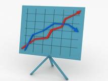 面板统计数据 免版税库存图片
