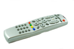 面板银色电视 免版税库存图片