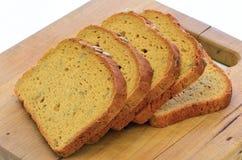 面筋免费向日葵种子面包 免版税库存图片