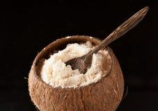 面筋自由椰子的面粉 免版税库存照片