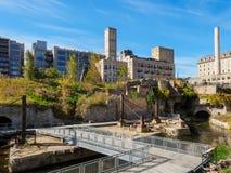 面粉加工厂废墟在米尼亚波尼斯1 免版税库存照片