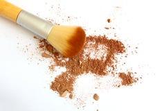 面粉和面孔刷子 免版税库存图片
