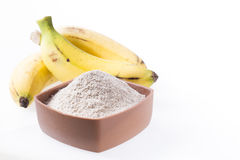 面粉和香蕉果子 图库摄影