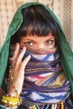 面纱的妇女 亚洲 免版税库存照片