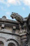 面貌古怪的人或gargouille, Sacre-Coeur大教堂,蒙马特,巴黎 法国 免版税库存照片
