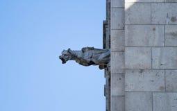 面貌古怪的人或gargouille, Sacre-Coeur大教堂,蒙马特 免版税库存照片