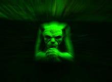 面貌古怪的人绿色 向量例证