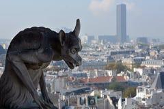 巴黎面貌古怪的人Notre Dame大教堂  库存照片