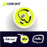 面部具体化chatbot的概念 剪影顶头机器人 标志intell 库存例证