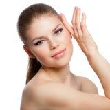面部润湿和治疗 免版税库存照片
