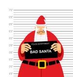 面部照片是坏圣诞老人 警察局的被拘捕的萨那克劳斯 皇族释放例证