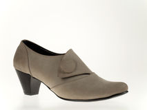绒面革妇女鞋子 库存照片