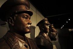 革命一般博物馆的雕象在井冈山 图库摄影