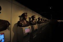 革命一般博物馆的雕象在井冈山 免版税库存图片