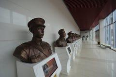 革命一般博物馆的雕象在井冈山 库存图片