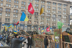 革命在乌克兰。EuroMaidan。 免版税图库摄影