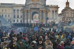 革命在乌克兰。EuroMaidan。 免版税库存图片