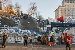 革命在乌克兰。EuroMaidan。 免版税库存照片