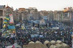 革命在乌克兰。EuroMaidan。 库存图片