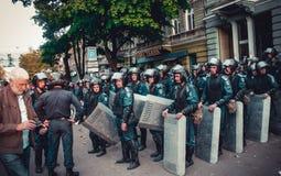 革命在傲德萨 库存照片