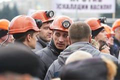 革命在哈尔科夫(22.02.2014) 库存照片