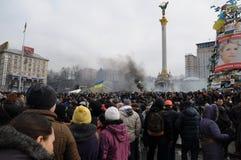 革命在基辅,乌克兰 免版税库存照片