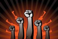 革命鼓动 免版税库存照片