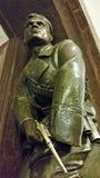 革命水手雕塑有一把左轮手枪的在驻地 图库摄影