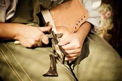 鞋匠 免版税库存照片