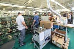 鞋厂的传动机 免版税图库摄影