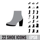 鞋子传染媒介象集合 库存照片