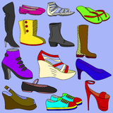 鞋子传染媒介例证 图库摄影
