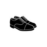鞋子传染媒介商标 免版税图库摄影