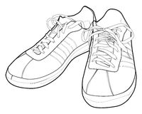 鞋子体育运动 库存图片