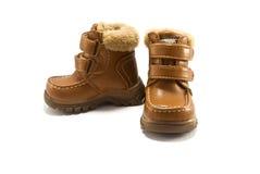 鞋子冬天 免版税图库摄影