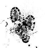 鞋子剪影背景 免版税库存照片