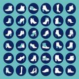 鞋子剪影-例证 图库摄影