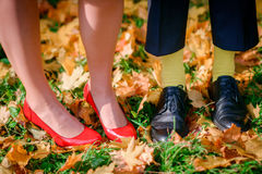 鞋子和起动 库存照片
