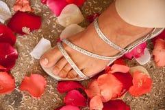 鞋子婚礼 免版税库存图片