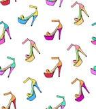 鞋子导航线性样式 向量例证