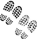 鞋子打印 免版税库存图片