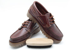 鞋子擦净剂 免版税库存图片