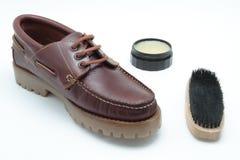 鞋子擦净剂 库存照片