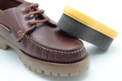 鞋子擦净剂 免版税库存照片