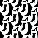 鞋子无缝的样式 库存照片
