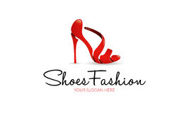 鞋子时尚商标 皇族释放例证